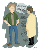 Dean, What Are You Looking at, Dean. by jarvisaur
