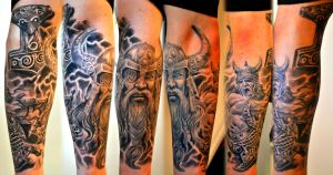 Viking sleeve healed by gettattoo
