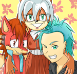 :[Left to Right]: Len, Irma, and Kaiden by IX-universe