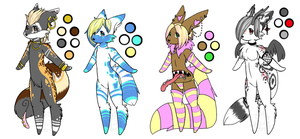 Custom Furries Examples (100 Points) (closed) by TechSupportGirls