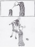 samara vs slender man by Tris1994