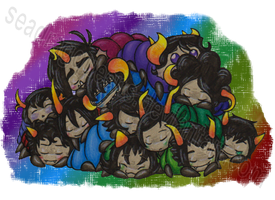 Wriggly Pile of Snuggle-Bugs by seadragQueens