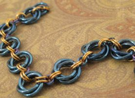 Niobium Mobius Blue and Gold by youvegotmaille