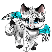 Winged Kitten adoptable :CLOSED: by Okami-Heart