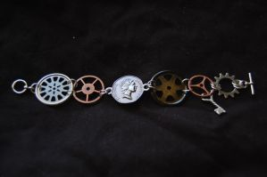 Steampunk Bracelet by FlyingPhoenixFire