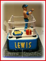 Wrestling Birthday Cake by gertygetsgangster