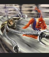 SPidey vs Doc Ock - WiP by MarcWasHere