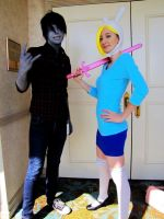 Fionna and Marshall Lee by Melodious-Angel