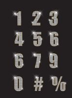 free vector numbers _ diamond by tariqdesign