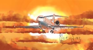 CRJ 700 Quickly Paint Drawing by AnimaP-NetoLins