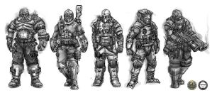 SOLDIERS CONCEPT SKETCHES by AGA-99