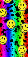 Rainbow Splatter Smiley Custom Box Background by lesbian-mermaid