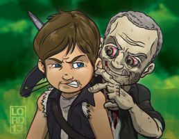 The Walking Dead: Who Wants a Wet Merle-y? 3D by lordmesa