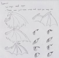 Anthro Dragon Guide: Bonus ~ Some Wings and Eyes by Dragon-Wish