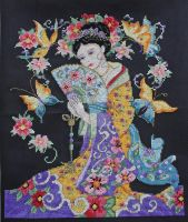 Oriental Lady by StitchingDreams