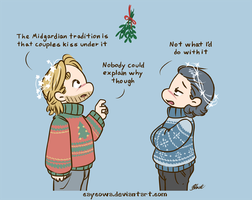 Thorki - Mistletoe by caycowa