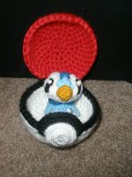 Functioning Pokeball + Piplup by TheHarley