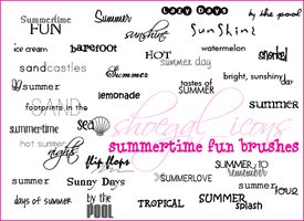 100x100 Summertime Brushes by kissncontrol