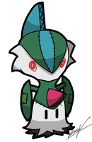 Mimikyu Gallade by GSVProductions
