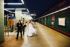 069 Wedding - Warsaw Metro by moonandnight