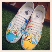 Adventure Time Vans by VeryBadThing