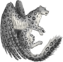Adoptable Winged Snow Leopard by graphiteforlunch
