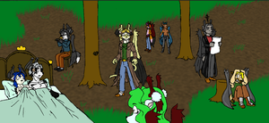 Daryil's Tree Party by tapewolf