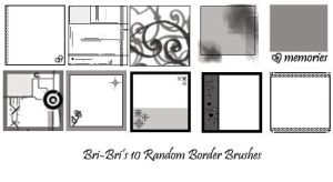 10 Random Border Brushes by rabidbribri