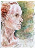 Colleen in profile by dlemelin