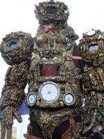 alien astronaut/Ancient Astronaut steampunk cyber by overlord-costume-art