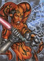 DARTH TALON SKETCH CARD by AHochrein2010