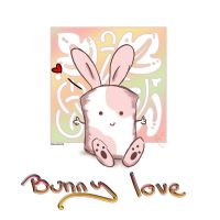 Bunny Love, Pink by Twitchy-Kitty-Studio