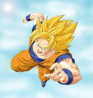 Super Saiyan Goku by Barbicanboy