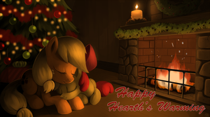 Happy Hearth's Warming, Apple Bloom by SorcerusHorserus