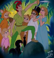 Peter Pan and Friends Color by Kevsoraone