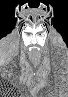 Thorin II Oakenshield by TheWhiteJackalope