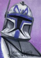 Captain Rex sketch card by Dangerous-Beauty778