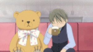 Junjou Romantica - Usagi-san drinking coffee GIF by KNPRO