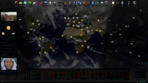 World Map - Weather, Earthquakes and other Events by fabularasa