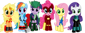 Heroes of Equestria by Beavernator