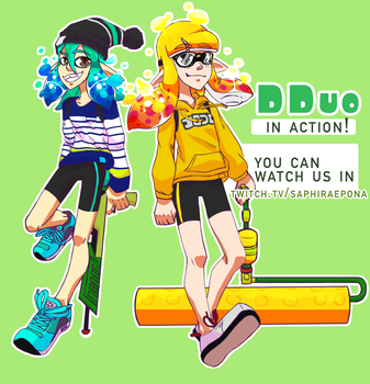 Dduo ready for action! by SaphiraEpona