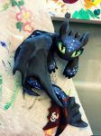 Toothless Sculpt- blue Night Fury by Lustuad