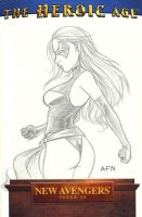 Ms Marvel Sketch Cover by Nortedesigns