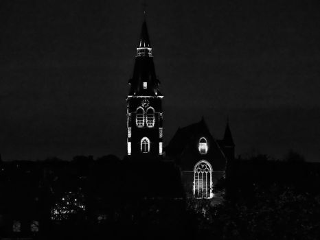 Church by night ( new edit ) by UdoChristmann