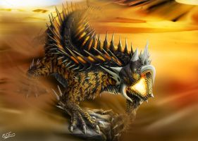 Desert Dragon full color by franeres