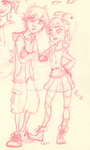Hiro and Vanellope by Naomi-Bee