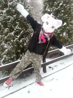 Fria's first snowday ! by Itamichiro