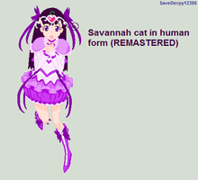 Savannah cat in human form (REMASTERED) by SaveDerpy12395