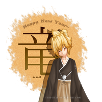 Len: New Year by thei-chan
