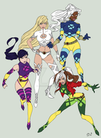 x-women colors by hwoarang1986